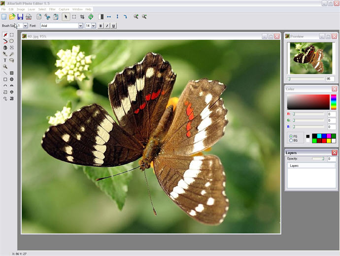 Altarsoft Photo Editor Full Windows 7 Screenshot Windows