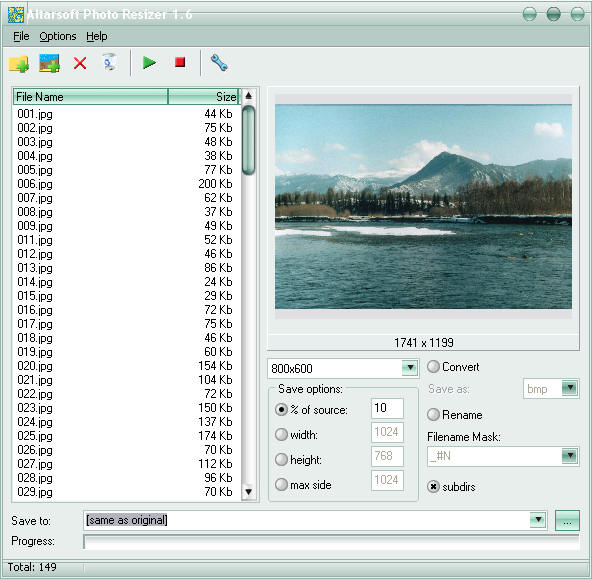 Altarsoft Photo Resizer 1.62