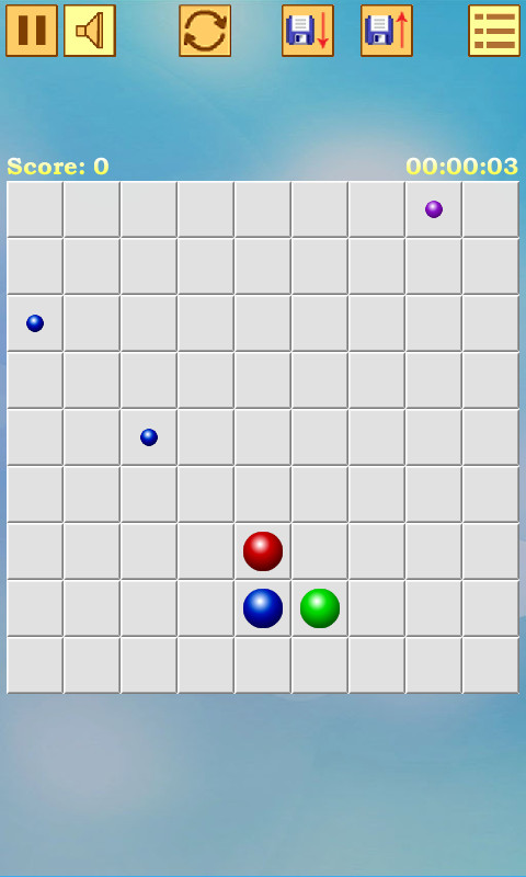 Remove the balls of the same color. Make lines of 5 balls and more. The longer line - the higher score.