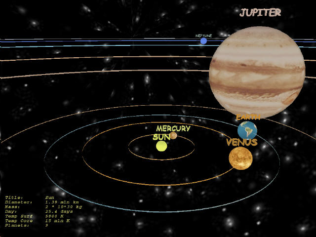 Solar System 3D Screen shot